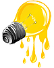 Vector clipart: dripping energy light bulb