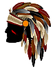 Vector clipart: Native american indian