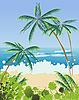 Векторный клипарт: Пляжный пейзаж