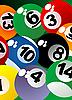 Vector clipart: Billiard balls