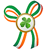Vector clipart: Four leaves clover badge
