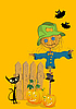 Vector clipart: Halloween greeting card