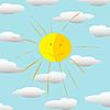 Sol feliz | Ilustración vectorial