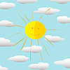 Happy sun | Stock Vector Graphics
