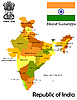 Vector clipart: Map of India
