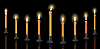 Vector clipart: Nine candle menorah