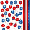 Vector clipart: Stars and stripes balloons