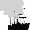 Vector clipart: Steam ship