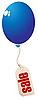 Ballon mit Verkauf-Etikett