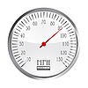 Vector clipart: vintage car speedometer