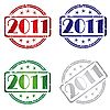 Vector clipart: 2011 Grunge stamps