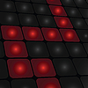 Vector clipart: Abstract squared red black background