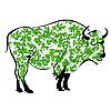 буйвол из зеленых листьев