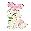 Vector clipart: Cute baby girl