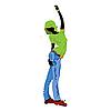 Vector clipart: Dancing girl