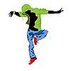 Векторный клипарт: грув-танцор
