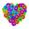 Vector clipart: Heart as floral bouquet