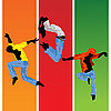 Vector clipart: Jumping silhouettes