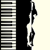 Vector clipart: Piano and dancer