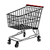 Vector clipart: Shopping trolley silhouette