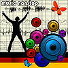 Vector clipart: music nonstop