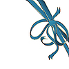 Vector clipart: blue corner ribbon