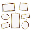 Vector clipart: empty frames