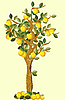 Векторный клипарт: Лимонное дерево