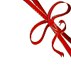Vector clipart: red corner ribbon