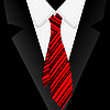 Vector clipart: Striped red tie