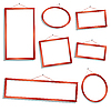 Vector clipart: wooden frames