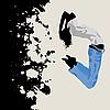 Векторный клипарт: Девушка в прыжке