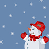 Vector clipart: New Year card with snowman