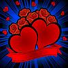 Векторный клипарт: сердечки и розы
