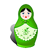 Vector clipart: Russian nesting doll