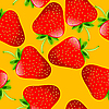 Vector clipart: strawberries pattern