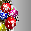 Vector clipart: Shining Christmas baubles