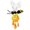 ID 3039051 | Wasp and honey | Stock Vector Graphics | CLIPARTO