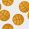 Vector clipart: basketballs pattern