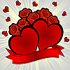 Vector clipart: hearts and roses
