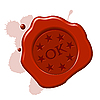 Vector clipart: wax seal ok