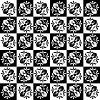 Vector clipart: Art nouveau flower pattern