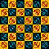 Vector clipart: Art nouveau flower seamless pattern