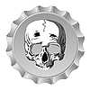Bottle cap with skull | Stock Vector Graphics