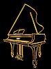 Golden piano | Stock Vector Graphics