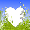 Vector clipart: card with heart in grass