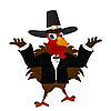 Vector clipart: Pilgrim turkey