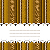 Vector clipart: Sample text ribbon over african design