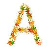 Vector clipart: Autumn floral letter A