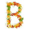 Vector clipart: Autumn floral letter B